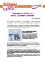 La lettre des géomètres et des agents du cadastre n° 3