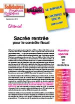 Le dossier Contrôle Fiscal - Numéro spécial CTR du 09/09/2014