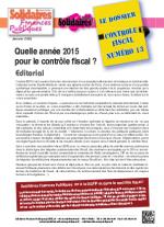 Le dossier Contrôle Fiscal N°13