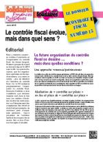 Le dossier Contrôle Fiscal N°15