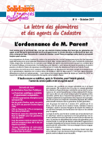 La Lettre des géometres et des agents du cadastre n°9