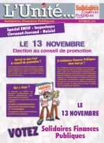 L'Unité Spécial élections au conseil de promotion ENFiP inspecteurs stagiaires 2018