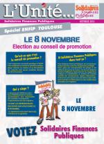 L'Unité Spécial élections au conseil de promotion ENFiP Toulouse 2018