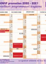 Calendrier ENFiP 2020 - 2021 Contrôleur Programmeur