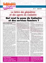 La lettre des géomètres et des agents du cadastre n°11