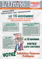 L'Unité Spécial élections au conseil de promotion ENFiP contrôleurs stagiaires 2017