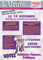 L'Unité Spécial élections au conseil de promotion ENFiP inspecteurs stagiaires 2017