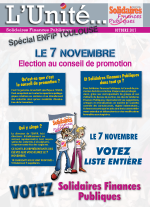L'Unité Spécial élections au conseil de promotion ENFiP Toulouse 2017